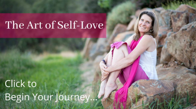 how to love yourself unconditionally - a picture of Anna-Thea and a link to all of her Self Love courses