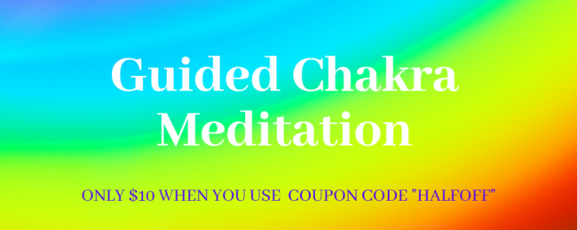 How to open your chakras - a banner for a guided chakra meditation for beginners - click to find out more.