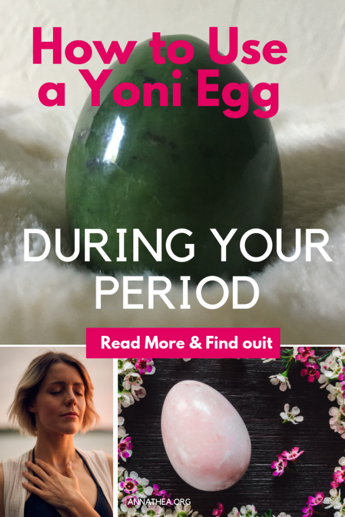 How to use a yoni egg during your period pinterest banner.