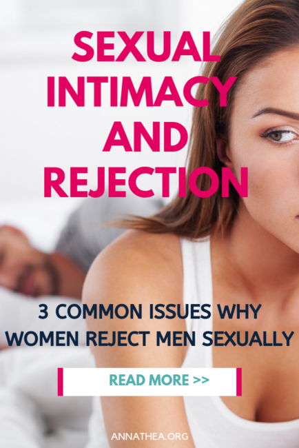 Sexual Intimacy and Rejection - A woman in bed with her man looking frustrated.