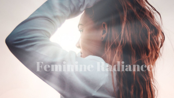 Feminine Radiance - A woman with shining rays of light