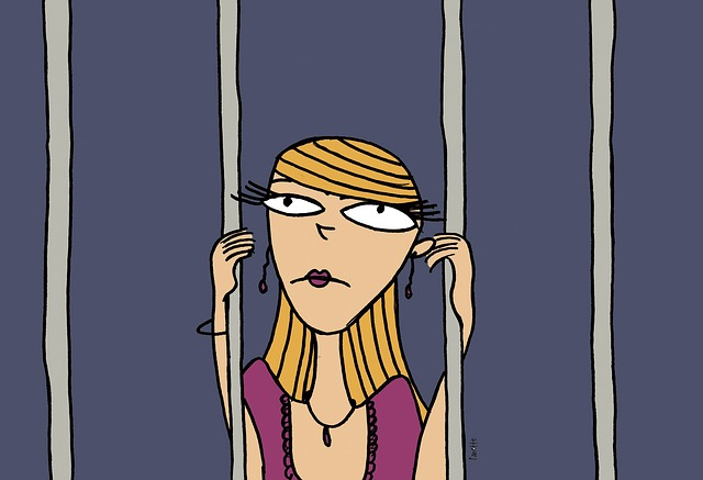 Healthy Boundary Setting - Cartoon woman in jail