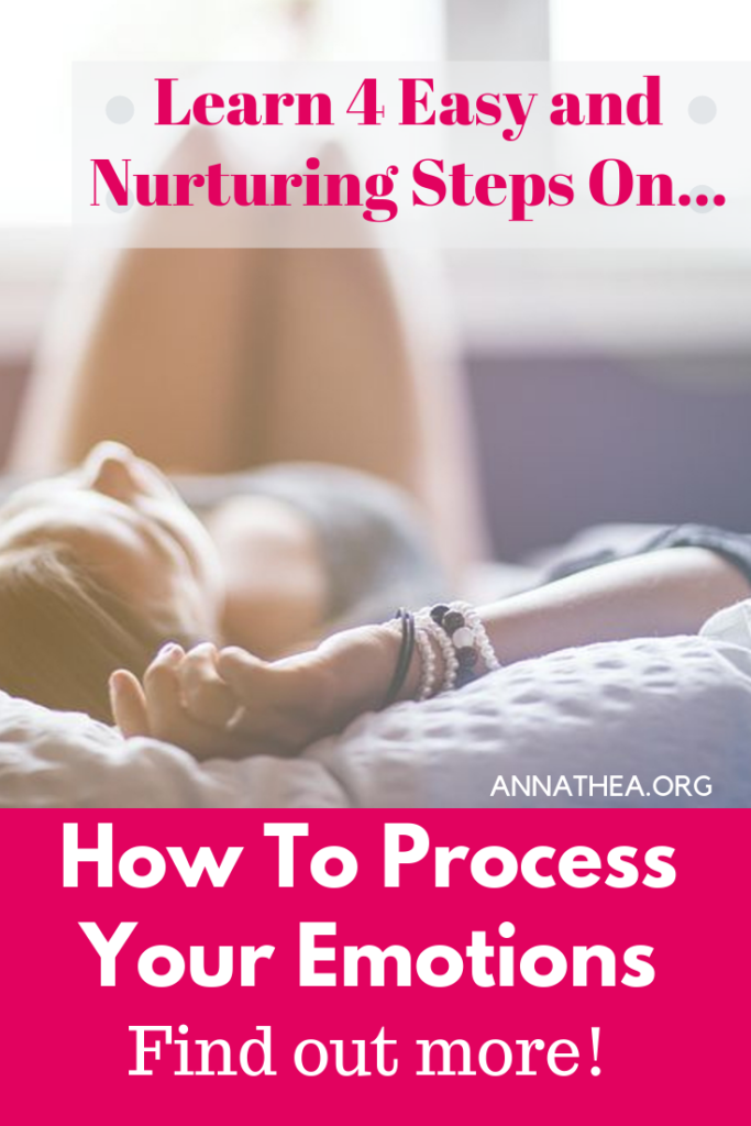 How to process emotions - 4 easy steps - woman relaxing on the bed.