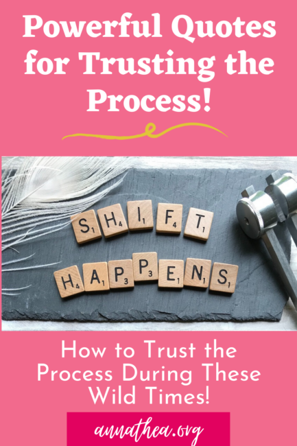 """Trusting the process quotes - a pinterest post that says """"shift happens"""""""