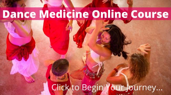 Re-wilding dance medicine - showing women dancing and having fun.