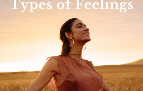 types of feelings - a woman with her arms open and feeling good