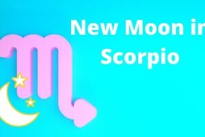 new moon in scorpio picture of the scorpio symbol and the moon